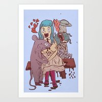 Let's Get Friendly, St… Art Print