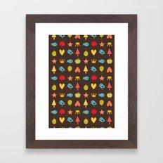Happy pattern Framed Art Print