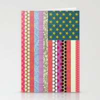 US Beauty flag Stationery Cards