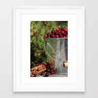 Framed Art Print featuring Berries and Spice by Shawn King