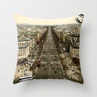 lobster in paris Throw Pillow