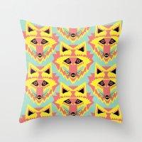 Fabulous Fox Throw Pillow
