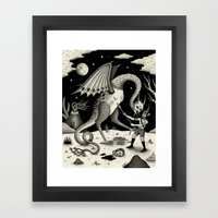 A Fatal Confrontation Framed Art Print