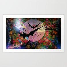 BatLove1 Art Print