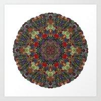 Hallucination Mandala 3 Art Print