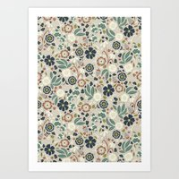 Flourishing Florals (Lig… Art Print