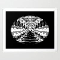 Black+White Abstract.Mod… Art Print