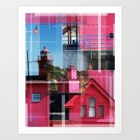 Lighthouse At Holland Pa… Art Print