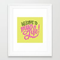 Framed Art Print featuring Welcome to My Life by Chris Piascik