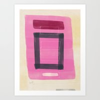 Functions of Red with Partial Lattice Art Print