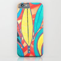 iPhone Cases featuring Feather-head by Maxine Orange