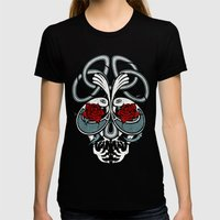 Celtic Skull Womens Fitted Tee Black SMALL