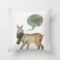 Heaven And Nature Sing Throw Pillow