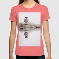 Stone Balance Womens Fitted Tee Pomegranate SMALL
