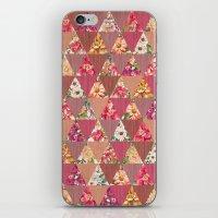 GEOMETRIC MODERN FLOWERS iPhone & iPod Skin