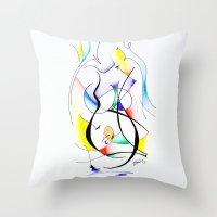 Cuerpo De Mujer (estudio… Throw Pillow