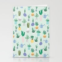 Plant Pot Pattern Stationery Cards