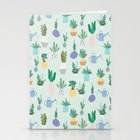 Plant Pot Pattern Stationery Cards