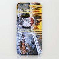 Mixed Media Art Yellow Rain iPhone 6 Slim Case