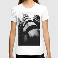 Lloyds Of London building Womens Fitted Tee White SMALL