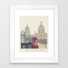 Edinburgh skyline poster Framed Art Print