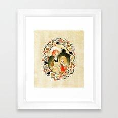 Sweet Porridge: Mother and Daughter Framed Art Print