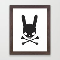 SKULL BUNNY OF PIRATES Framed Art Print