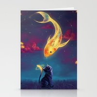 MAGICAL GOLDFISH Stationery Cards