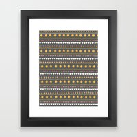 Thankful Rows Framed Art Print