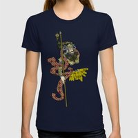 CORN OR MAIZE  Womens Fitted Tee Navy SMALL