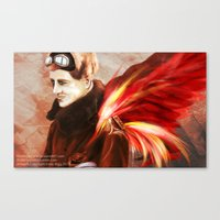Upon Red Wings Canvas Print
