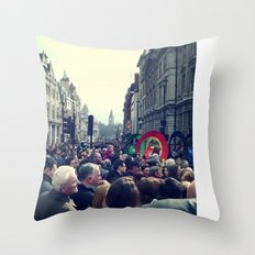 A London Parade  Throw Pillow