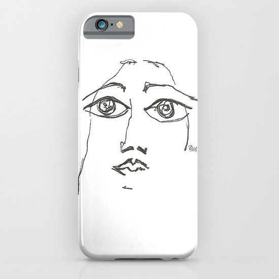 Woman gazing iPhone & iPod Case