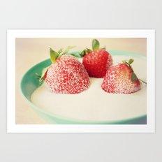 Sweet Sugar Berries Art Print