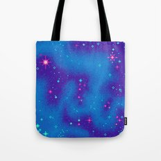 Indigo Nebula (8bit) Tote Bag