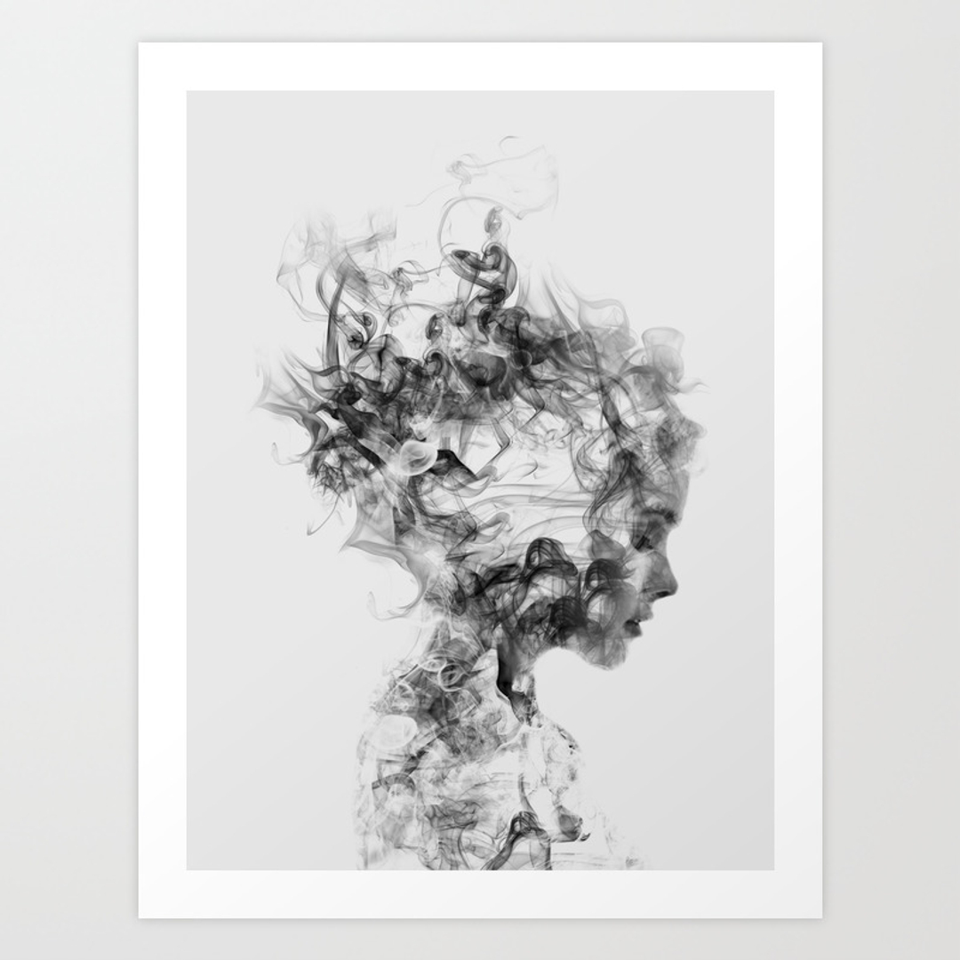 Graphic design art prints society6 for Black and white celebrity prints