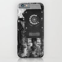 iPhone Cases featuring The old phone by Rafael&Arty