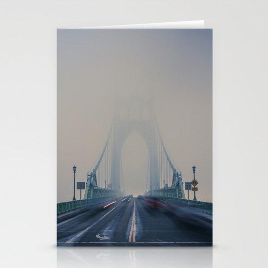 St. Johns Bridge Fog Stationery Card