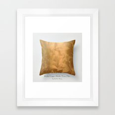 Brushed Copper Metallic Throw Pillow Art Print Framed Art Print
