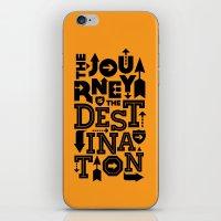 Orange Journey Quote iPhone & iPod Skin