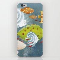 Clovis chasing the fish iPhone & iPod Skin