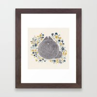 kitch cat Framed Art Print