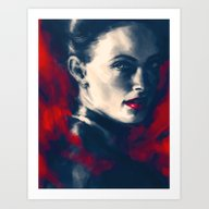 Art Print featuring The Woman by Alice X. Zhang