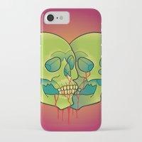 skulls iPhone & iPod Cases featuring Skulls by kellyhalloran