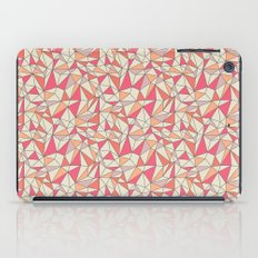 triangles color block in coral pink and orange iPad Case