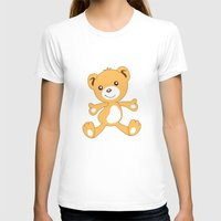 Parachuting Bear 2 Womens Fitted Tee White SMALL