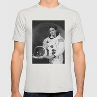 Frida in Space Mens Fitted Tee Silver SMALL