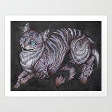the Cheshire Cat art print Art Print