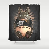 CUDDLE MONSTER Shower Curtain