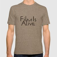 Film Is Alive Mens Fitted Tee Tri-Coffee SMALL